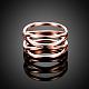 Fantastic Hollow Titanium Steel Criss Cross Wide Band Rings(RJEW-BB15800-6RG)-4