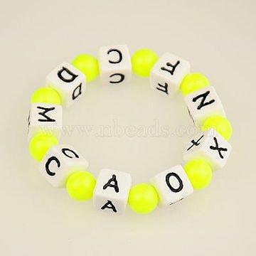 Yellow Acrylic Bracelets