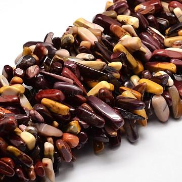 "Mookaite naturelle perles de puce brins, 8~30x5~12mm, trou: 1 mm; environ 15.3""~15.7""(X-G-E271-48)"