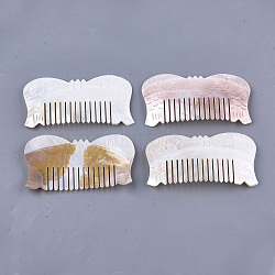 Freshwater Shell Combs, Fish, Seashell Color, 110~112x61~62x4~5mm(SSHEL-S258-66)