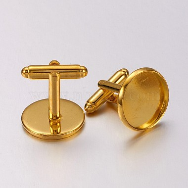 Brass Cuff Button(X-KK-E062-G)-2