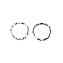304 Stainless Steel Jump Rings, Close but Unsoldered Jump Rings, Stainless Steel Color, 20 Gauge, 7x0.8mm; Inner Diameter: 5.4mm; about 142pcs/10g(X-STAS-D448-097P-7mm)