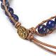 Natural Lapis Lazuli Cord Beaded Bracelets(BJEW-E351-02H)-3
