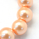 Baking Painted Pearlized Glass Pearl Round Bead Strands(X-HY-Q003-4mm-18)-3