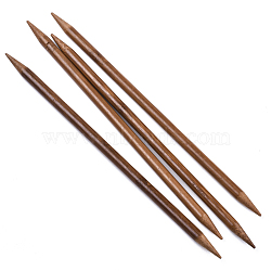 Bamboo Double Pointed Knitting Needles(DPNS), Peru, 250x9mm; 4pcs/bag(TOOL-R047-9.0mm-03)