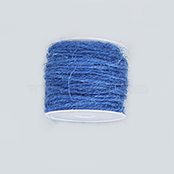 Corde de chanvre, chaîne de chanvre, ficelle de chanvre, pour la fabrication de bijoux, bleu royal, 2 mm; 50 m / rouleau(OCOR-WH0002-A-14)