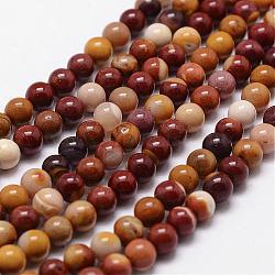 """Naturelles Mookaite perles brins, rond, 12mm, trou: 1mm; environ 31 pcs/chapelet, 15""""(G-D840-80-12mm)"""