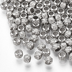 304 Stainless Steel Beads, Rondelle, Stainless Steel Color, 3x2.5mm, Hole: 1.5mm(X-STAS-R096-3mm-02)