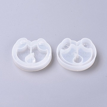 DIY Quicksand Jewelry Puppy Silicone Molds, Resin Casting Molds, For UV Resin, Epoxy Resin Jewelry Making, Corgi Dog Hip, White, 47.2x55.7x12mm(X-DIY-WH0148-65)