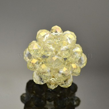 14mm Rondelle Glass Beads