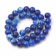 Dyed Natural Crackle Agate Beads Strands(G-T100-01-M)-3