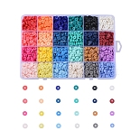 6mm Mixed Color Disc Polymer Clay Beads(CLAY-X0011-01)