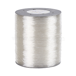 Korean Flat Elastic Crystal String, Elastic Beading Thread, for Stretch Bracelet Making, Clear, 0.8mm, about 1000m/roll(EW-D005-A)