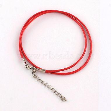 Воском хлопка ожерелье шнура материалы(MAK-S032-1.5mm-M)-2