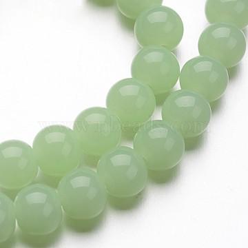 8mm MediumAquamarine Round Glass Beads