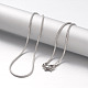 304 Stainless Steel Snake Chain Necklaces(NJEW-F195-04B-P)-2