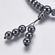 Non-magnetic Synthetic Hematite Mala Beads Necklaces(NJEW-K096-11C)-4