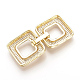 Brass Micro Pave Cubic Zirconia Fold Over Clasps(ZIRC-S058-01G)-2
