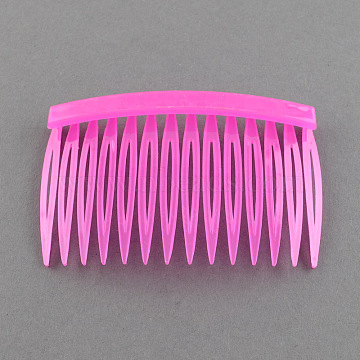 Plastic Hair Combs Findings, Magenta, 46x70mm(PHAR-R018-3)