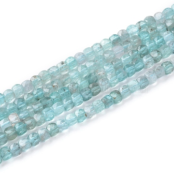 Natural Apatite Beads Strands, Faceted, Cube, 3.5x3.5x3.5mm, Hole: 0.7mm; about 113pcs/strand, 15.5inches(39.5cm)(G-L537-002)
