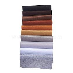 Feutre à l'aiguille de broderie de tissu non tissé pour l'artisanat de bricolage, carrée, couleur mixte, 298~300x298~300x1 mm; 10 pcs / set(DIY-JP0002-01)