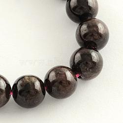 """Grenat naturel brins de pierres précieuses perles, rond, 8mm, trou: 1mm; environ 48 pcs/chapelet, 14.9""""(G-R263-8mm)"""
