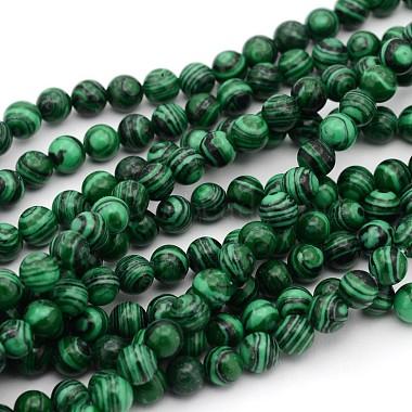 4mm Green Round Malachite Beads