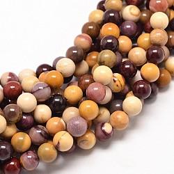 """Mookaite naturel chapelets de perles rondes, 6mm, trou: 1mm; environ 61 pcs/chapelet, 15""""(G-P072-34-6mm)"""
