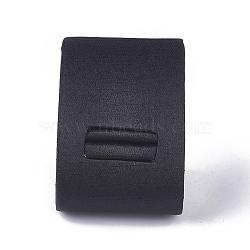 Présentoirs en anneau de gypse, avec un chiffon, noir, 49x52x53mm(RDIS-O004-02)