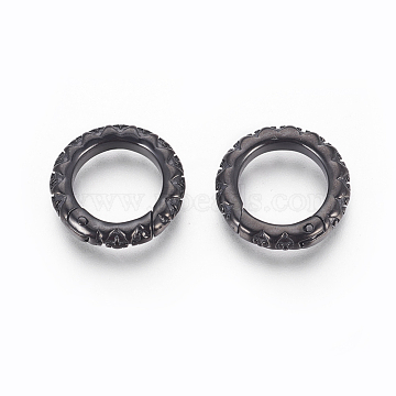 Gunmetal Stainless Steel Clasps