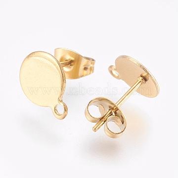Golden Stainless Steel Stud Earrings