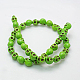 1 Strand Synthetic Howlite Skull Beads for Halloween Jewelry(X-TURQ-E006-02)-2