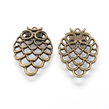 Antique Bronze Owl Alloy Pendants