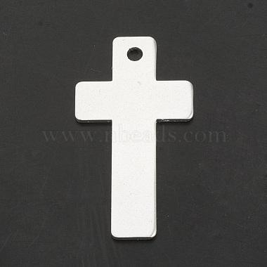 Silver Cross Aluminum Big Pendants