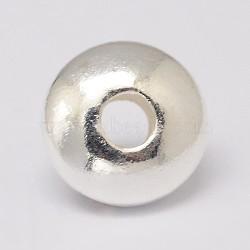 925 en argent sterling perles d'espacement, disque, argent, 3~3.5x1.5 mm, trou: 1 mm(X-STER-K021-03S-3mm)