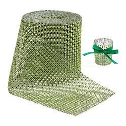 Coupe en strass en plastique, strass chaînes de tasse, greenyellow, 120mm(DIY-BC0001-03D)