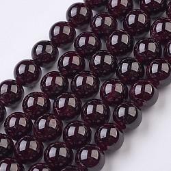"""Chapelets de perles de grenat naturel, rond, 10~10.5mm, trou: 1mm; environ 38 pcs/chapelet, 15.3"""" (39 cm)(G-J376-37-10mm)"""