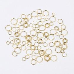 Anneaux fendus doubles, taille mixte, or, environ 4~10 mm de diamètre(IFIN-MSMC007-2G)