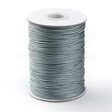 Korean Waxed Polyester Cord, Gray, 1mm, about 85yards/roll(YC1.0MM-A113)