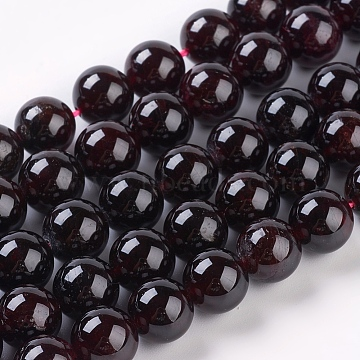 10mm DarkRed Round Garnet Beads