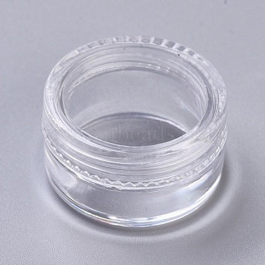 Clear Flat Round Plastic Beads Containers
