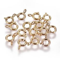 304 пружинные кольца из нержавеющей стали, золотой, 6x1.6 mm, отверстия: 1.6 mm(STAS-F224-02G-B)