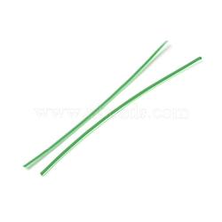 Plastic Wire Twist Ties, with Iron Core, Bread Candy Bag Ties, Green, 102~104x2x0.7mm(AJEW-WH0109-80C)