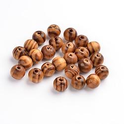 Деревянные бусины, без свинца, круглые, деревесиные, 8 мм диаметром, отверстие : 2.5 мм(X-TB616Y)