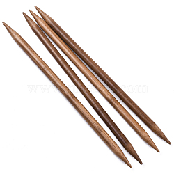 Bamboo Double Pointed Knitting Needles(DPNS), Peru, 250x10mm; 4pcs/bag(TOOL-R047-10mm-03)
