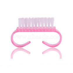 Scrub Cleaning Brushes for Toes and Nails, Plastic Handle Grip Nail Brush, Pink, 6.5x3.5cm(MRMJ-F001-15)