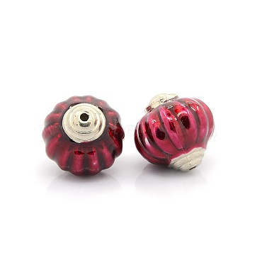 28mm Crimson Lantern Acrylic+Enamel Beads