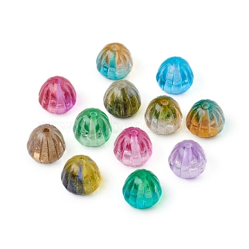Czech Glass Beads, Dyed, Seedpod of the Lotus, Mixed Color, 9x7.5~8mm, Hole: 1mm(X-GLAA-G077-08)