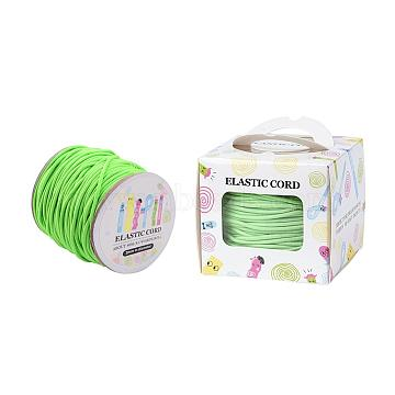 Elastic Cord, with Nylon Outside and Rubber Inside, Round, Lime, 2mm; 43.74yards/roll(40m/roll)(EC-JP0002-2mm-033A)