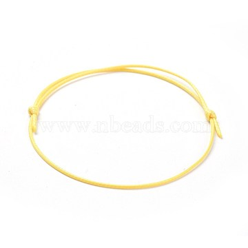 Yellow Waxed Polyester Cord Bracelet Making
